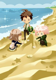 Not-so-fun fact: Komaeda has never finished a sand castle due to his luck cycle
