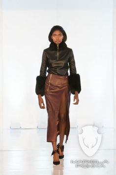 Split Reindeer Leather Malva Skirt