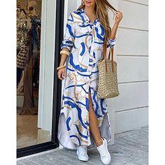 LightInTheBox - Ruhák, otthon & kert, elektronikai cikkek, menyasszonyi ruhák és kiegészítők online áruháza Button Down Shirt Dress, Long Sleeve Shirt Dress, Trend Fashion, Womens Fashion, Fashion Sale, Style Fashion, Dress Skirt, The Dress, Dress Long