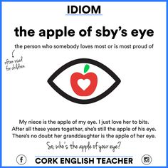 Idiom: The apple of sby's eye