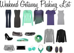 Apparel Therapy Weekend Packing List, fashion, outfits, packing.