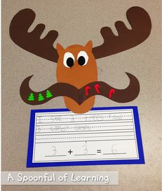 Christmas Fun! Math, Literacy, and Writing Activities! Mooseltoe Addition