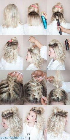 косы на короткие волосы