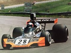 Jokn Watson with Goldie Hexagon Racing Brabham BT44. 1974. his F1 second season career started this team, and from German GP BT42 improve to BT44.