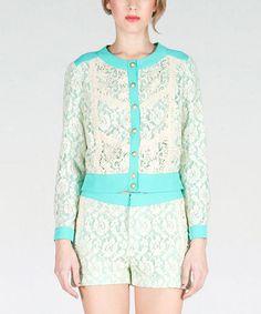 Mint & White Lace Jacket