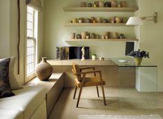 Love that sleek glass table! Daniel Cuevas and Carole Katleman
