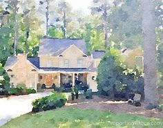How to create a portrait of your home (kids, pets, garden, anything) using a photo & the Waterlogue app. Such a neat idea!