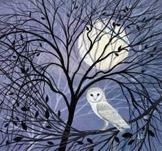 Buy Museums and Galleries Big Moon Charity Christmas Cards, Pack of 8 from our Christmas Cards range at John Lewis & Partners. Free Delivery on orders over Owl Art, Bird Art, Winter Art, Wildlife Art, Watercolor Paintings, Watercolour, Art Projects, Illustration Art, Drawings
