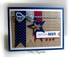 Me, My Stamps and I: Happy 4th #patrioticcard #starsandstripescard #masculinecard