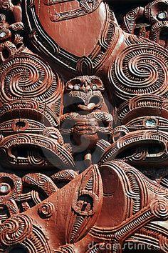 A fine sample of Maori wood carving