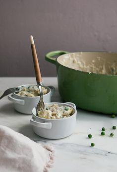 Creamy, Spring-y, Smoked Gouda Stovetop Mac n Cheese