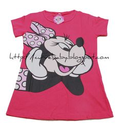 Girl Minnie Mouse Casual T-Shirt    Size: 10, 12, 14  Age: 5, 6, 7    Color (Available Size):  White (10, 12, 14)  Dark Pink (10, 12, 14)  Black (10, 12, 14)    Price: $8.50