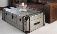 Steel Trunk Coffee Table
