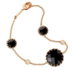 Ivanka Trump - Onyx and Diamond with Rose Gold Chain  - $1,800