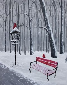 Join us for a Paint Nite event Thu Nov 2017 at 799 Main St Cambridge, MA. - Kunst Join us for a Paint Nite event Thu Nov 2017 at 799 Main St Cambridge, MA. Winter Painting, Winter Art, Christmas Paintings, Christmas Art, Tole Painting, Painting & Drawing, Guache, Easy Paintings, Learn To Paint