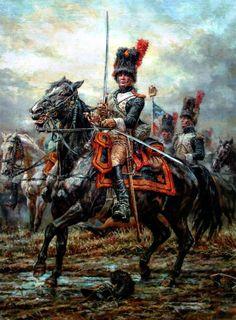 Cattura di a sciabola russa da parte dei granatieri a cavallo francesi: