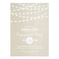 This Deals Summer String Lights Engagement Party Invitation We provide you all shopping site and all informations in our go to store link. You will see low prices on