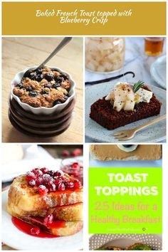 Vegan Richa: Baked French Toast topped with Blueberry Crisp. toast Toppings Baked French Toast topped with Blueberry Crisp Blueberry Crisp, French Toast Bake, Muffin, Vegan, Baking, Healthy, Breakfast, Food, Morning Coffee