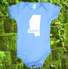 Mississippi Home State Unisex Baby One Piece by HomelandTees, $17.95