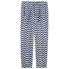 Ivory and blue printed trousers made of flowing viscose fabric. Fine polyester voile lining. Elasticated waistband. Slit pockets on the sides. - 70,00 €