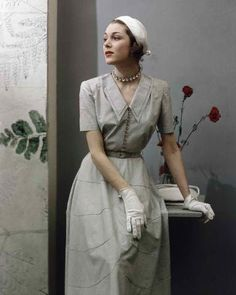 This Pin was discovered by Lady Z712. Discover (and save!) your own Pins on Pinterest. | See more about 40s fashion, collared dress and fashion.