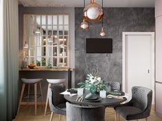 Cafe interior design trends 2018 fashion design styles the best home dining rooms images on cafe . Cafe Interior Design, Interior Rugs, Dining Room Images, Grey Walls, Scandinavian Apartment, Interior, Cafe Interior, Coffee Shop Interior Design, Home Decor
