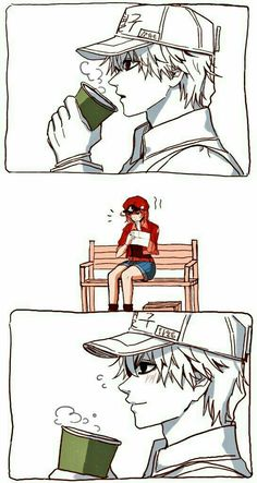 White Blood Cell x Red Blood Cell Otaku Anime, Manga Anime, Manga Bl, Fanarts Anime, I Love Anime, Awesome Anime, Comics Anime, Blood Anime, White Blood Cells