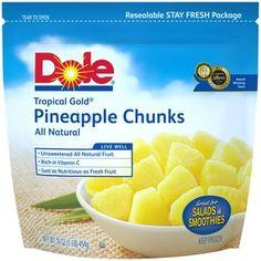 Dole Tropical Gold Pineapple Chunks Frozen Fruit, 16 oz