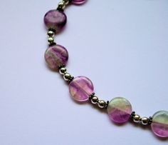 Green and purple slipon bracelet by HandmadebyEleri on Etsy, £12.00