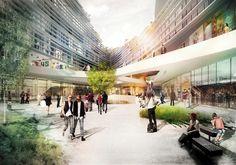 Galería - Kagithane Gardens: Oficinas con grandes techos verdes para Estambul / JDS Architects - 23