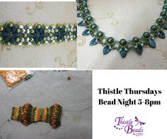 Thistle Thursdays every Thursday night bring a project and bead among friends! #thistlethursday#thistlebeads#beadwork#beadingbuddies