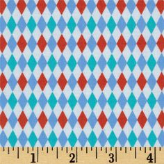 From Michael Miller, this cotton print is perfect for quilting, apparel and home decor accents. Colors include white, aqua, periwinkle and dark coral.