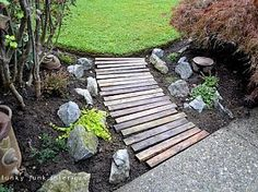 What a great use for old cedar fence boards