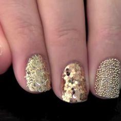 decorado de uñas doradas Hacks, Nail Trends, Nail Art, Chain, How To Make, Beauty, Beautiful, Gold, Finger Nails