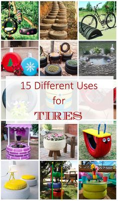If you have old tires you can upcycle them in so many ways. Here there is a round up of the most creative ways you can use them again.