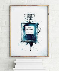 Chanel Perfume Bottle Print  PRINTABLE FILE. by ILKADesign on Etsy