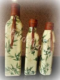Картинки по запросу decoupage em garrafa de vinho