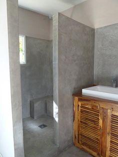 salle de bain resine epoxy effet beton cire. Black Bedroom Furniture Sets. Home Design Ideas