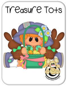 Treasure Tots Easter Girl - Treasure Box Designs Patterns & Cutting Files (SVG,WPC,GSD,DXF,AI,JPEG)