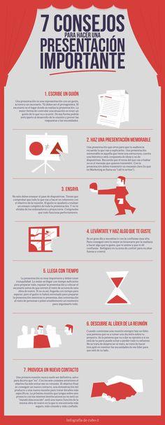 7 consejos para hacer una presentación importante #infografia #infographic #marketing