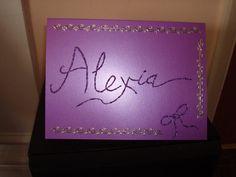 Swarovski Crystal Personalised Name Greeting Card