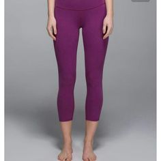 Plum lululemon wunder unders. Plum cotton roll down wunder unders in great condition. So cute and great for any work out. lululemon athletica Pants Leggings