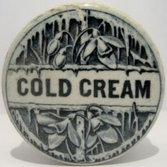 Snowdrop Cold Cream Pot Lid