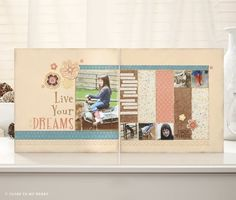"""I thought I would share the paper pack """"Clementine"""" with you today. You can buy the Workshop On The Go ( ). Scrapbooking Layouts, Scrapbook Cards, Book Layouts, Reflection Paper, Card Making Kits, Close To My Heart, Small Gifts, Cardmaking, Winter"""