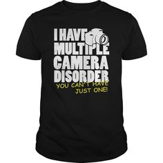 Camera Disorder TShirt  #photo #photos #photoshoot #pic #pics #picture #photoaday #snapshot #art #beautiful #instagood #picoftheday #photooftheday #color #photograph #camera