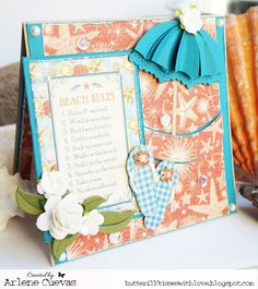 JUNE 2015 New Release Showcase Day 3!  Card by Arlene Cuevas featuring these Dies - Flip flops, Beach Umbrella, Double Stitched Hills Border, Flower Banner, Scallop Trim Banner :-)  Shop for our NEW products here - http://shop.lalalandcrafts.com/NEW_c16.htm  More Design Team inspiration here - http://lalalandcrafts.blogspot.ie/2015/06/new-release-showcase-day-3-introducing.html Showcase Day 3 - Introducing Molli