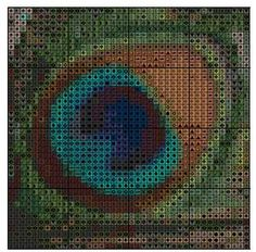Free Stuff: Peacock Feather Cross Stitch Pattern EMAIL ONLY - Listia.com Auctions for Free Stuff