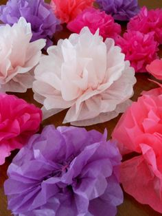 How to Make tissue paper flower napkin rings for a TEA PARTY