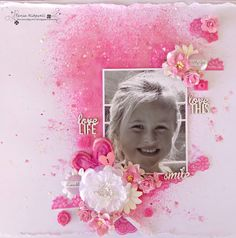 Tania's Creative Space: White With One......Princess Pink January DT Challenge reveal