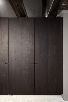 Kongensgade Kitchen - Nicolaj Bo™ - Lilly is Love Oak Wardrobe, Wardrobe Design, Built In Wardrobe, Door Design, House Design, Joinery Details, Modern Closet, Minimal Kitchen, Modular Wardrobes